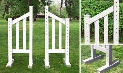 5' Angle Picket Wing Standard - Pair - OUT OF STOCK Horse Jumps