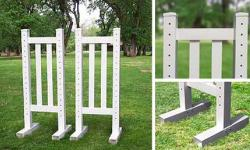 5' Picket Wing Standards - Pair (Second) Horse Jumps