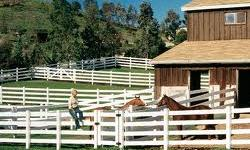 PVC Estate Fencing Horse Jumps